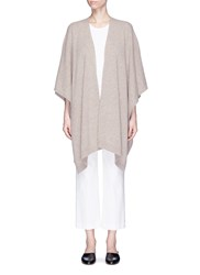 The Row 'Hern' Cashmere Knit Cape Brown
