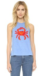 Tory Burch Crab Tank Top Blue Dusk