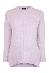 Topshop Maternity Zip Side Crew Neck Jumper Lilac