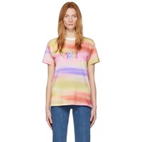 See By Chloe Multicolor Rainbow Logo T Shirt