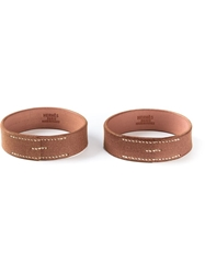 Hermes Vintage Double Bangles Brown
