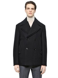 Faconnable Double Lapels On Wool Peacoat