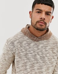 Native Youth Long Sleeve Hooded Top Brown