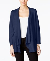 Alfani Draped Cardigan Only At Macy's Navy Nautical