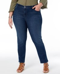 Styleandco. Style Co Plus Size Straight Leg Jeans Hudson