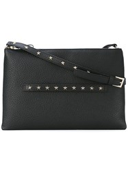 Red Valentino Star Studded Crossbody Women Leather One Size Black