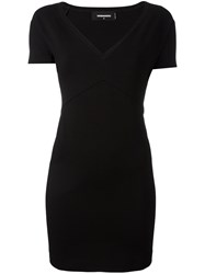Dsquared2 V Neck Mini Dress Black