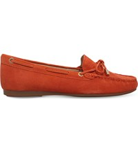 Michael Michael Kors Sutton Suede Moccasins Orange