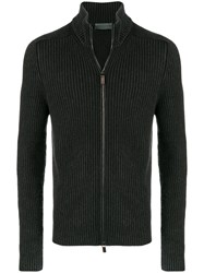 Iris Von Arnim Cashmere Zipped Cardigan Black