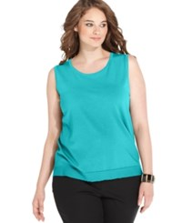 August Silk Plus Size Sleeveless Shell Top