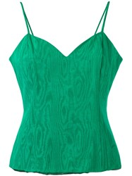 Christian Dior Vintage Fitted Vest Top Green
