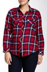 Angie Plaid Shirt Plus Size Multi