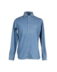 Altea Denim Denim Shirts Men Blue