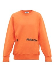 Ambush Logo Print Cotton Sweatshirt Orange