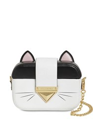 Karl Lagerfeld Leather Cat Clutch Multicolor