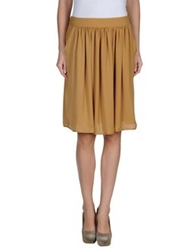 Momoni Momoni Knee Length Skirts Camel