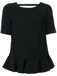 Dondup 'Adara' Flounce Hem Top Black