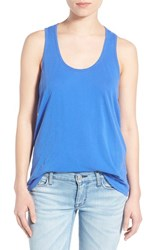 Women's Splendid Cotton Racerback Tank Cobalt Blue