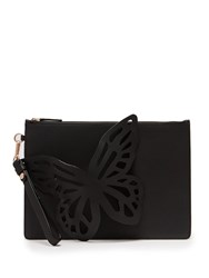 Sophia Webster Flossy Butterfly Leather Pouch Black