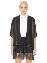 Valentino Fringed Nappa Leather Jacket