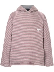 Martine Rose Oversized Striped Hoodie Grey