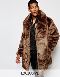The New County Faux Fur Jacket Brown