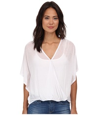 Culture Phit Katie Butterfly Arm Top White Women's Clothing