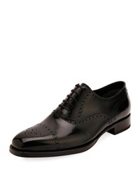 Tom Ford Dress Shoe In Brogue Black