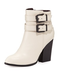 Report Signature Trever Buckled Bootie White
