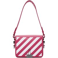 Off White Pink Diagonal Flap Bag
