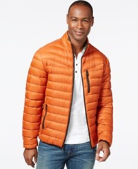 Inc International Concepts Solid Down Packable Jacket Only At Macy's Burnt Orange