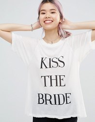 Wildfox Couture Kiss The Bride T Shirt Vintage Lace Cream