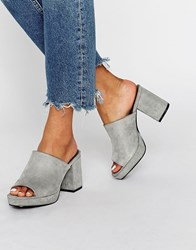 Truffle Collection Platform Mule Grey Micro