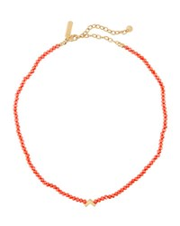Panacea Crystal And Charm Choker Orange