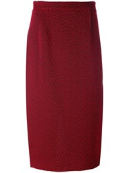 Roland Mouret Arreton Skirt Women Cotton Polyester Spandex Elastane Viscose 12 Red