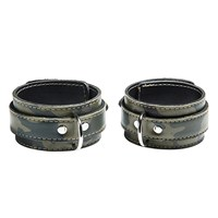 Liberator Gunnery Camo Leather Ankle Cuffs