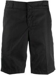 Prada Logo Plaque Tailored Shorts Black