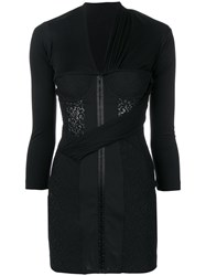 Alexander Wang Fitted Bodice Mini Dress Black