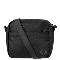 Fred Perry Tonal Tipped Side Bag Black