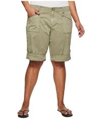 Aventura Clothing Plus Size Addie V2 Shorts Gravel Silver