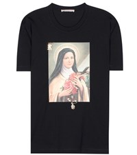 Christopher Kane Printed Cotton T Shirt Black