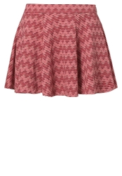 Rusty Fever Pleated Skirt Jelly Bean Red
