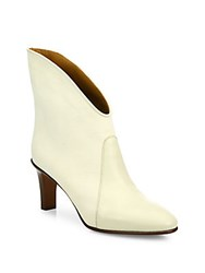 Chloe Kole Leather And Suede Ankle Booties White