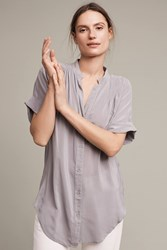 Maeve Rosalyn Silk Tunic Shirt Grey