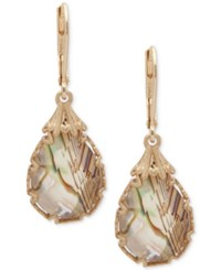 Lonna And Lilly Gold Tone Abalone Teardrop Drop Earrings