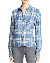 Rails Carter Plaid Chambray Shirt Dark Vintage Tartan