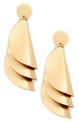 Sole Society Fossil Cove Statement Earrings Gold