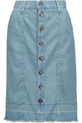 Current Elliott The Short Sally Denim Skirt Light Denim