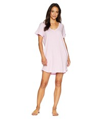 Allen Allen Short Sleeve Vee Dress With Pockets Pink Lady
