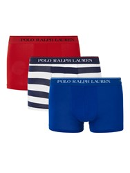 Ralph Lauren Polo Executive Stripe Stretch Cotton Trunks Pack Of 3 Multi